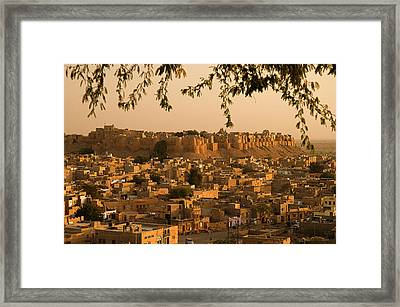 Skn 1334 Golden City Framed Print