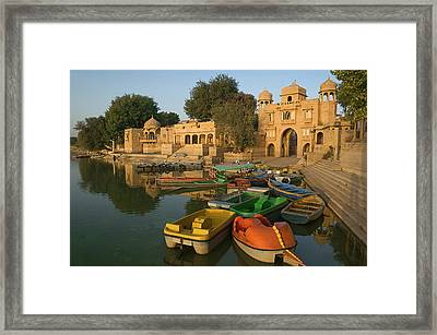 Skn 1391 Visit To Gadisar Lake Framed Print