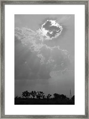 Skn 2170 Blessings Showered Framed Print