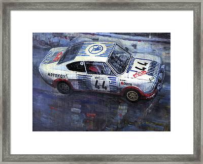 Skoda 130 Rs #44 Monte Carlo 1977 Framed Print