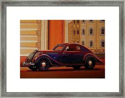 Skoda Popular Sport Monte Carlo 1935 Painting Framed Print