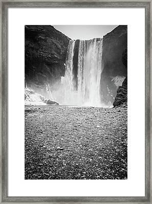 Skogafoss In Winter Framed Print
