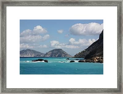 Skopelos Blue Framed Print by Yvonne Ayoub