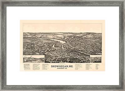 Skowhegan Maine 1892 Framed Print by Mountain Dreams