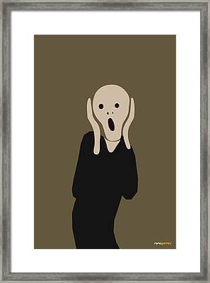 Skrik Framed Print by Rafael Gomes