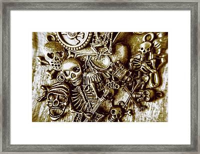 Skull And Cross Bone Treasure Framed Print