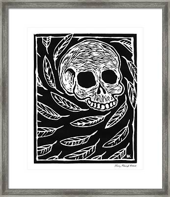 Skull And Feathers Framed Print