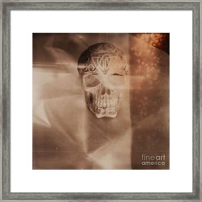 Skull Framed Print by Andrea S