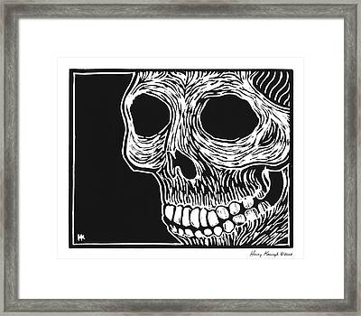 Skull Aware Framed Print