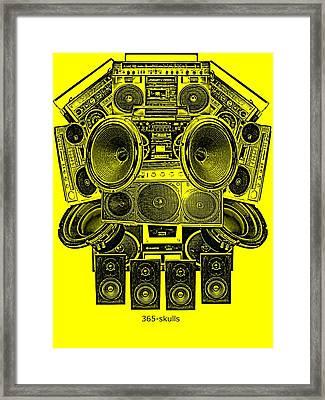 Skull Beat Box Framed Print by Eric De La Fuente