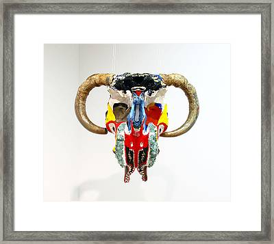 Skull Bottom View Framed Print by William Douglas