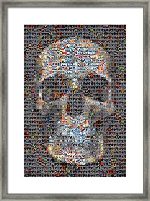 Skull Framed Print by Boy Sees Hearts