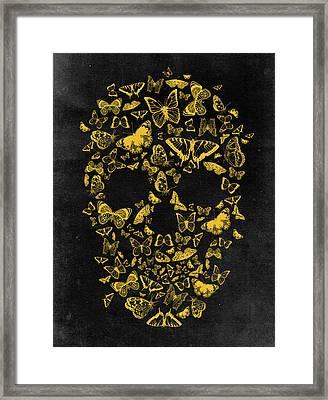 Skull Butterflies 2 Framed Print by Francisco Valle