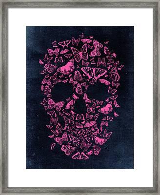 Skull Butterflies Framed Print by Francisco Valle