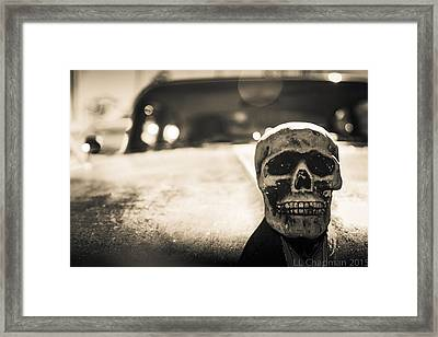 Skull Car Framed Print by Lora Lee Chapman