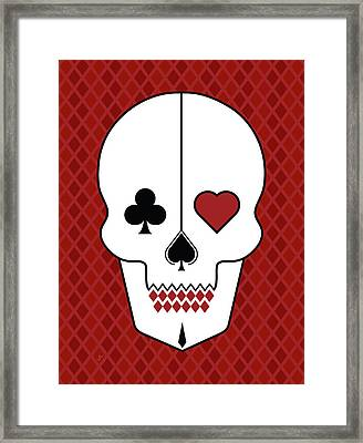 Skull Cards Framed Print
