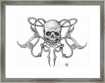 Skull Design Framed Print