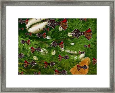 Skull Fish Framed Print