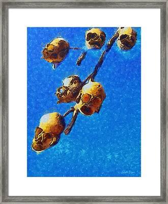 Skull Flower - Pa Framed Print by Leonardo Digenio