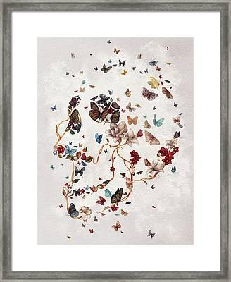 Skull Garden Framed Print
