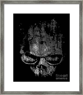 Skull Graphic Framed Print by Edward Fielding