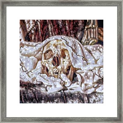 #skull #humanskull #goth #victorian Framed Print