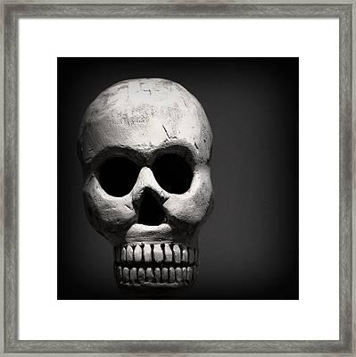 Skull Framed Print by Joseph Skompski