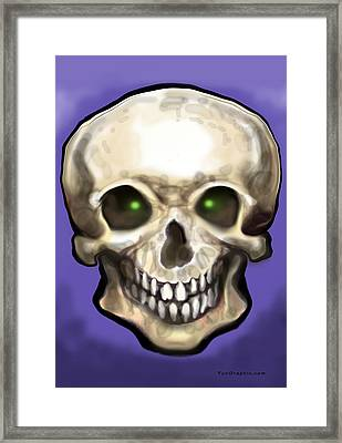 Framed Print featuring the painting Skull by Kevin Middleton