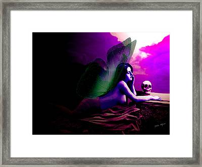 Skull Lady Framed Print by Tray Mead