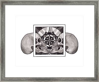 Skull Mandala Series Nr 1 Framed Print by Deadcharming Art