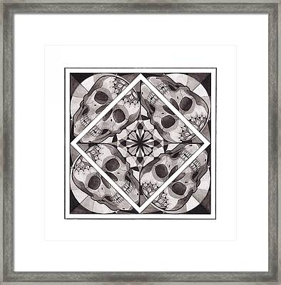 Skull Mandala Series Number Two Framed Print