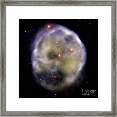 Skull Nebula, Planetary Nebula, Ngc 246 Framed Print