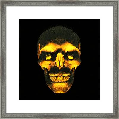 Skull Of Death Framed Print by Pierre Blanchard