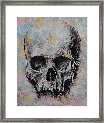 Medieval Skull Framed Print