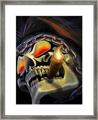 Skull Project Framed Print by Pat Lewis
