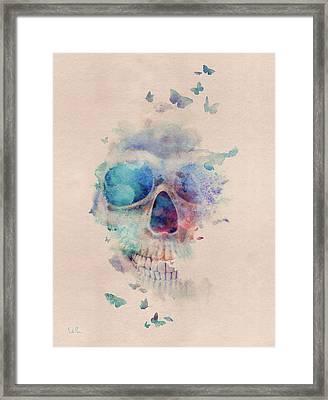 Skull Rainbow Framed Print