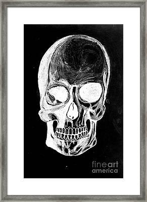 Skull Study 3 Framed Print