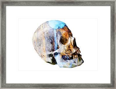 Skull Waterfall Framed Print by Garry Gay