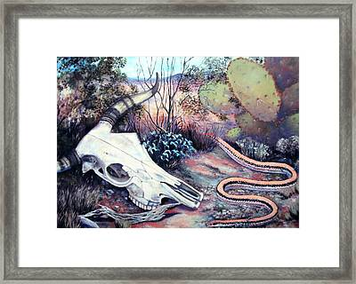 Skulldugery Framed Print