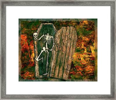Skullie Framed Print by Jack Zulli