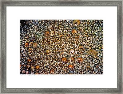 Skulls And Bones Under Paris Framed Print