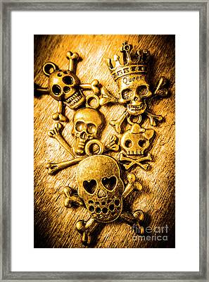 Framed Print featuring the photograph Skulls And Crossbones by Jorgo Photography - Wall Art Gallery
