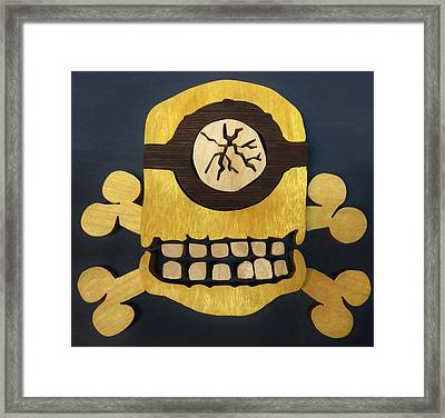 Skull And Crossbones Minion Framed Print by Michael Bergman