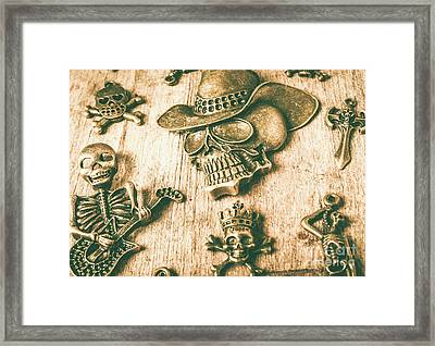 Skulls And Pieces Framed Print