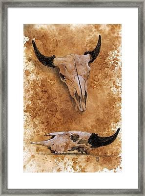 Skulls Framed Print by Debra Jones