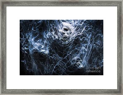Skulls Tangled In Fear Framed Print