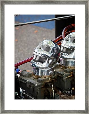 Framed Print featuring the photograph Skully by Chris Dutton