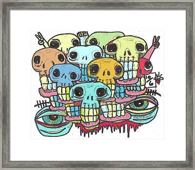 Skullz Framed Print by Robert Wolverton Jr