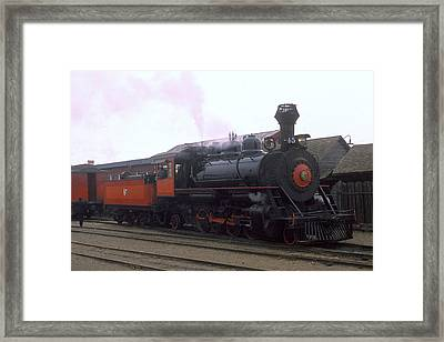 Skunk Train No 45 Fort Bragg California Framed Print