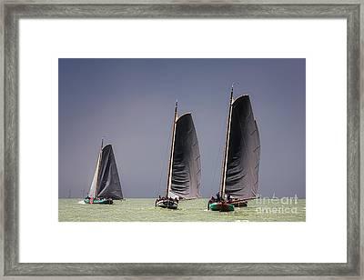 Skutsje Wedstrijd Voor De Wind Framed Print